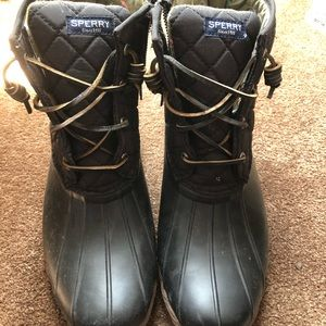 Black Sperry Duck Boots